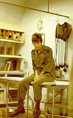 Nancy Quirk Lilja, an Army Nurse Corps nurse at 3rd Surg, 1970.