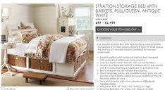 Pottery Barn Knockoff Storage Bed