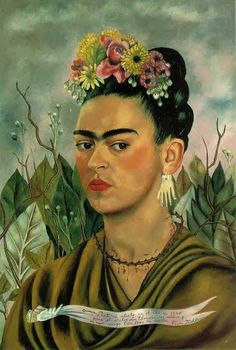 Frida Kahlo: Self-Portrait with Thorn Necklace, 1940