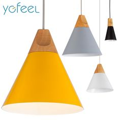 [YGFEEL] Pendant Lights Dining Room Pendant Lamps Modern Colorful Restaurant Coffee Bedroom Lighting Iron+Solid Wood E27 Holder-in Pendant Lights from Lights & Lighting on Aliexpress.com | Alibaba Group