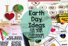 Earth Day Ideas for your Classroom! Freebies, math, writing and reading centers!