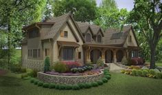 Exteriors Design, Pictures, Remodel, Decor and Ideas - page 622 Traditional Exterior, The Great Outdoors, Exterior Design, Garden Landscaping, Nashville, Mansions, House Styles, Building Ideas, Ponds