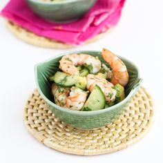 10-Minute Thai Shrimp, Cucumber & Avocado Salad Recipe -  from @Mrs.Miller' Canuck | Dara Michalski
