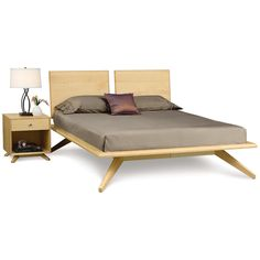 Copeland Astrid Queen Bed with 2 Headboard Panels and 1 drawer 1-AST-12-01
