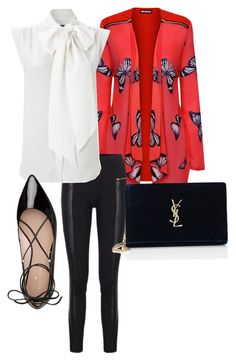 """Red in the Night"" by mcasspr on Polyvore featuring WearAll, French Connection, Kate Spade and Yves Saint Laurent"