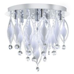 2456-6CC SPINDLE CHROME 6 LED FITTING WITH COLOURED GLASS & REMOTE CONTROL - DUSHKA LTD, LONDON, UK.