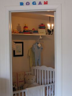 walk-in closet nursery, tiny nursery, nursery for small spaces