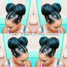 Image Result For Two Braids Hairstyles With Weave Hair Beauty N