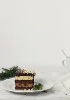 Chocolate and caramel mousse cake