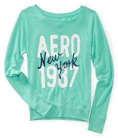2d7dc145a5 Aero New York 1987 Crew Sweatshirt Tee - Aeropostale  8 Aeropostale  Outfits