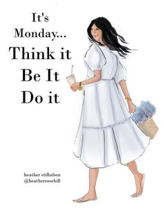 Notting Hill Quotes, Monday Morning Quotes, Monday Blessings, Black Girl Cartoon, Monday Humor, Ballet Fashion, Fashion Art, Fashion Trends, Thought Of The Day