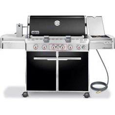 Weber - BTU Summit Propane Gas Grill in Black - Features 838 sq. of primary cooking space, individual ignition systems, flush mounted side burner, flavorizer bars and stainless steel cooking grates. Grill Sale, Best Gas Grills, California Backyard, Perfect Grill, Propane Gas Grill, Outdoor Dining, Outdoor Decor, Bbq Party, Outdoor Cooking