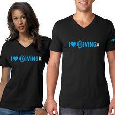 I love diving T-shirt T Shirts, Diving, V Neck, My Love, Prints, Tops, Fashion, Tee Shirts, My Boo