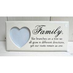 Rámeček family se srdcem Decor, Decoration, Decorating, Deco