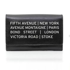 Personalise this genuine leather black ladies purse with Shopping destination design, with any message of 2 lines of 15 characters. Great Mothers Day Gifts, Mother Day Gifts, Ladies Purse, Bond Street, Practical Gifts, Leather Purses, Shopping Bag, Black Leather, New York