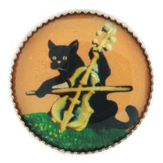 18mm Cat and the Fiddle Button | Fusion Beads