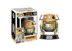 This is the Star Wars Rebels POP Chopper Bobble Head Vinyl Figure. From the new movie comes these great new characters. Chopper looks great. He's another great droid to add to the fan favorites. Star Wars Rebels, Star Wars Droids, Star Trek, Pop Vinyl Figures, Funko Pop Figures, Chopper, Funko Pop Star Wars, Star Wars Toys, Theme Star Wars