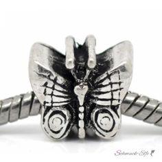Bead Perle Schmetterling Bufferfly Tibet Silber