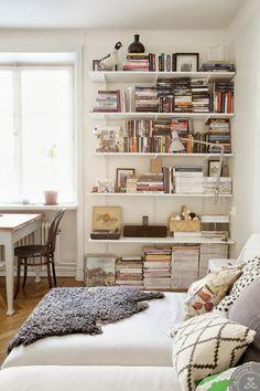 Librero de rieles para la sala...