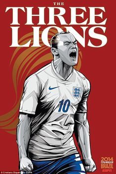 Wayne Rooney lets out a roar for the Three Lions in World Cup poster #dailymail