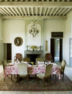 interieurs ~ dining room of baccarat chateau decoratedmarie