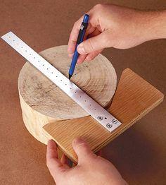 Centerfinder and trammel in one #WoodworkingTools