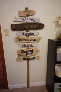 Storybook Nursery - Storybook Road Sign