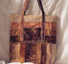 Travel Duo Tote Bags For Summer Travel of Gold, Brown and Tan Strips by MASBags, $50.00 USD