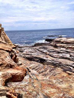 "Senjojiki (""One Thousand Tatami Mats"" in Japanese) natural rock formation leading to the ocean, Shirahama, Wakayama, Japan 千畳敷"