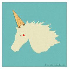 a unicorn?..or a melted ice cream cone?..pretty neat
