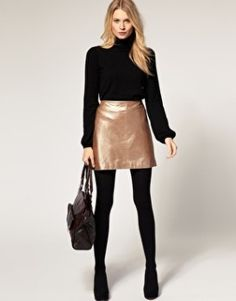 Shop the latest Oasis Metallic Leather Mini Skirt trends with ASOS! Alternative Mode, Alternative Fashion, Metallic Skirt, Metallic Leather, Metal Fashion, Leather Mini Skirts, My Wardrobe, Fashion Online, Personal Style