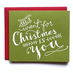 Holiday: All I Want For Christmas by 9th Letter Press   9th LETTER PRESS