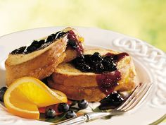 Blueberry-Orange French Toast recipe from Betty Crocker. I've made this before, and it came out great!