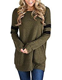 Femme Winter Autumn T-Shirts Bottoming Top Basic Tee Striped Casual Women T Shirts Solid Long-sleeve T-shirt Plus Size Autumn T Shirts, Pullover, Sweatshirt Tunic, Tunic Tops, T Shirts For Women, Blouse, Long Sleeve, Red Army, Army Green