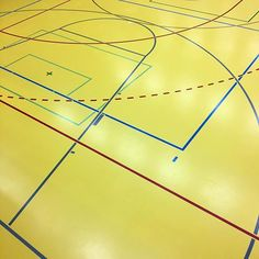 victoryjournal Game lines cover the multi-sport gym floor of the high school in Marly, #Fribourg. (: @groteskito) #Switzerland 2016/03/24 00:57:05