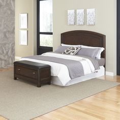 Home Styles Crescent Hill Panel 4 Piece Bedroom Set Size: Queen
