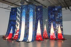 The Freedom Quilt eventually will reside in the 9/11 museum at Ground Zero. The 10 quilts were made by local fiber artists and quilting guilds in Colorado.