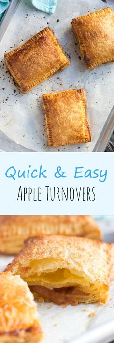 Quick & Easy Apple Turnovers. A simple dessert that can be whipped up quickly with a few store cupboard ingredients.