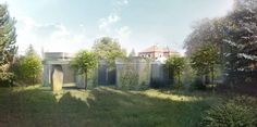 Jan Šépka u projektu rodinného domu rozostřuje hranici mezi zahradou a interiérem | EARCH. Gazebo, Sidewalk, Outdoor Structures, Kiosk, Side Walkway, Sidewalks, Cabana, Pavement, Walkways