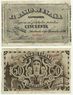 50 p, Santander 1936