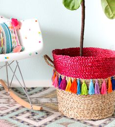 Tassel Basket Planter