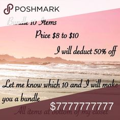 BUNDLE BUNDLE PLEASE SHARE Prices $8 to $10 bundle 10 items I will deduct 50% off. Jewelry