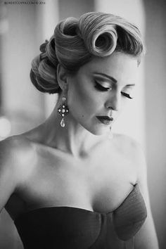 50 Cute and Trendy Updos for Long Hair - Hair Styling Wedding Hair And Makeup, Hair Makeup, Wedding Updo, Makeup Hairstyle, 50s Makeup, Wedding Nails, Wedding Hair Styles, 1950s Hair And Makeup, Wedding Ceremony