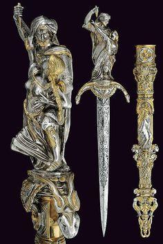 auction, 19th century, weapon, art, armor, blade, dagger, antiqu, black