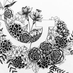 Details 🌸 via Biro, Ballpoint Pen, Ink Art, Blackwork, Pencil Drawings, Hand Lettering, Charcoal, Typography, Calligraphy