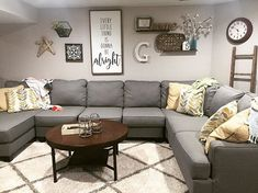 Basics Of Living Room Wall Decor Ideas Above Couch Rustic Shelves 5 - prekhome Living Room Decor On A Budget, Best Living Room Design, Family Room Design, New Living Room, Small Living Rooms, Living Room Designs, Living Room Wall Decor Ideas Above Couch, Modern Living, Family Rooms