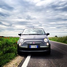 In the middle of nowhere with #Fiat500.