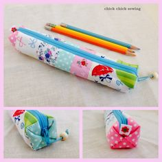 chick chick sewing: Cute Pleats! Pencil Case Making
