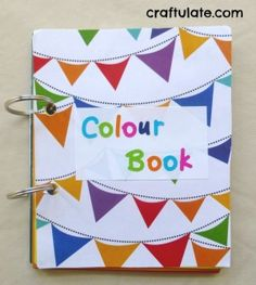 Make a colour book for your toddler from paint swatches!