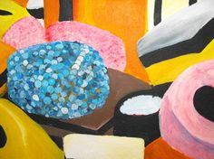 Image result for paintings with sweeties